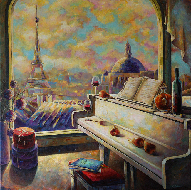 Музыка Парижа 1 Music of Paris   Original painting for sale