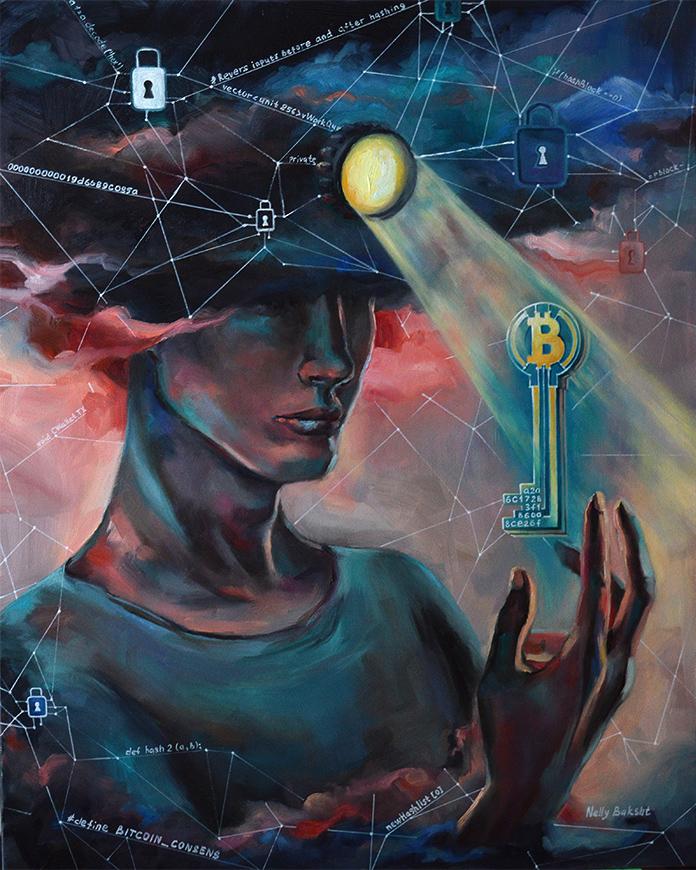 Fine crypto art Miner