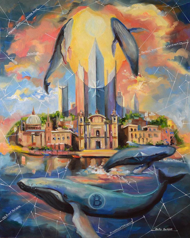 Crypro art Malta Blockchian Island M