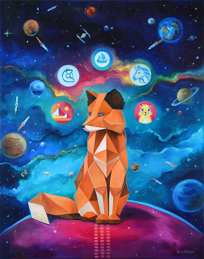 crypto art Metamask by Nelly