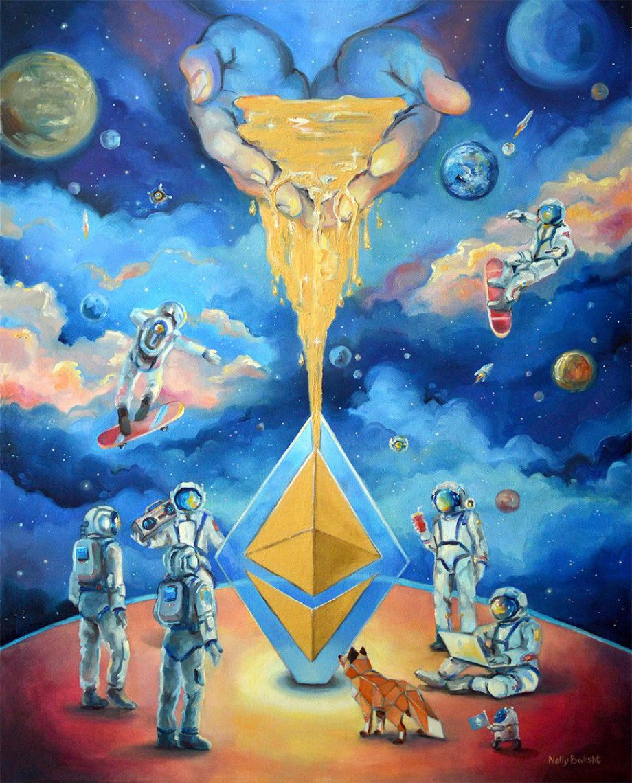 Fine crypto art by Nelly