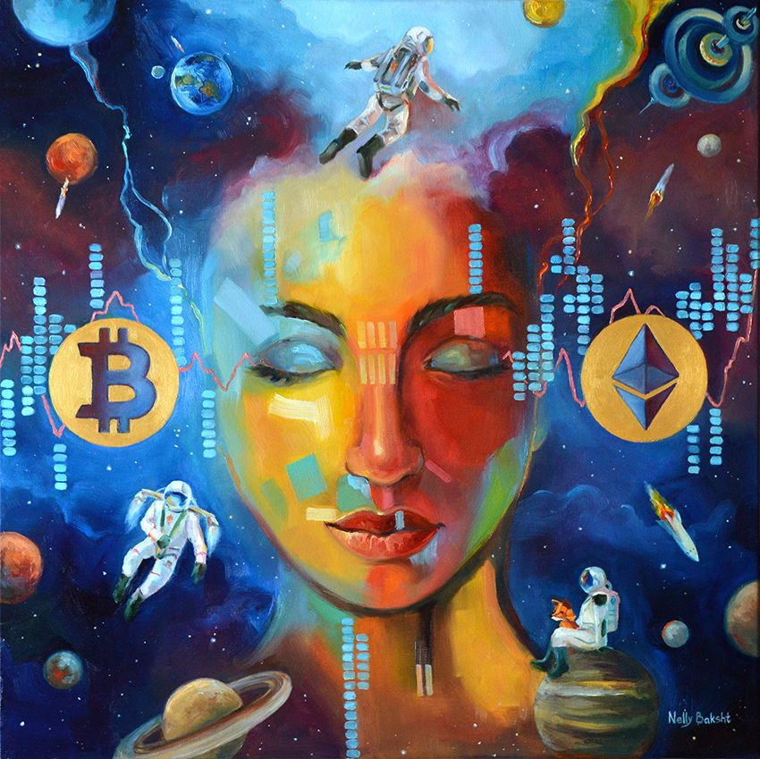 Fine crypto art The Space by Nelly