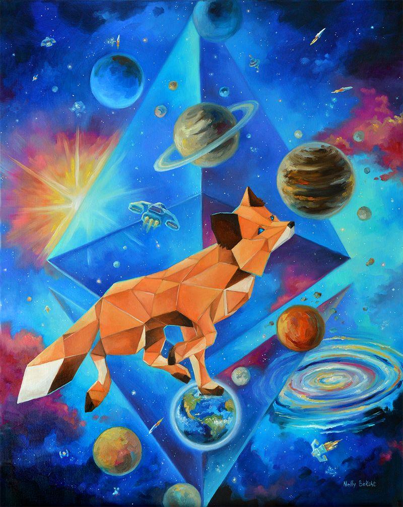 Cryptoart Space Fox Nelly